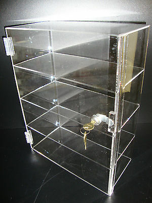 "Acrylic Countertop Display Case 12"" x 6"" x 16"" Locking Security Show Case Safe B"