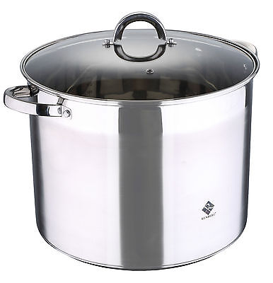 Renberg Stainless Steel Stock Pot Casserole Pot with Handles Induction all Sizes