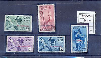 Italy Isole Italiane Dell'Egeo 1934 World Football Cup. MH/MNH (5 L MNH) VF.
