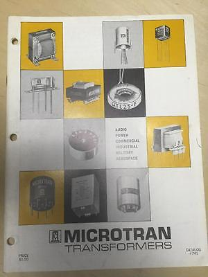 1974 Microtran Transformers Catalog ~ Audio Power Military Industrial Aerospace
