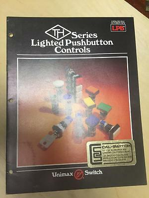 1979 Unimax Switch Catalog ~ TH Series Lighted Pushbutton Controls