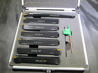 "7 Pc. 6+1 INDEXABLE TURNING TOOL HOLDER SET 3/4""."