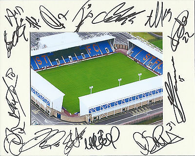 Hand Signed 2015/16 Shrewsbury Town5 10X8 Photo Mount Display - Signed By 15 Coa