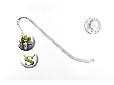 "Shrek Ogre Swamp Mike Myers Animated Logo Kids 5"" Silver Bookmark"