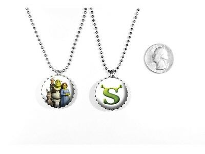 Shrek Ogre Swamp Mike Myers Animated Logo Kids 2 Sided Necklace