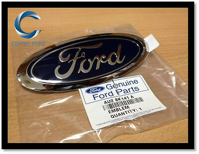 """Genuine """"FORD"""" Front Grille Oval Badge. Falcon AU/BA/BF, Territory SX/SY. 145mm"""