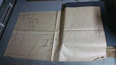 "25 WOVEN POLYPROPYLENE RUBBLE BUILDER SACKS BAGS 43"" wide x 73"" long EXTRA LARGE"