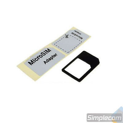 2x Micro Sim Card Adapter Converter for iPhone iPad with Sticker