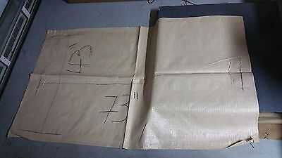 "100 WOVEN POLYPROPYLENE RUBBLE BUILDER SACKS BAGS 43"" wide x 73"" long EXTRA LARG"