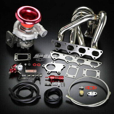B-Series B16 B18 T04 Stage Ii Turbo Charger Top-Mount Manifold Upgrade Kit Em Dc
