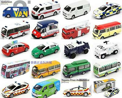 Tiny Hong Kong Special Diecast Car Model Police Fire Engine Ice Cream Van 01-40