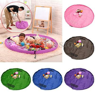 150cm Large Portable Kids Baby Toy Storage Bag Play Mat Organizer Rug Pouch Box