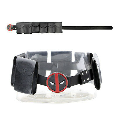 Deadpool X-Men Superhero Metal Unisex Belt Accessories Costume Cosplay Props