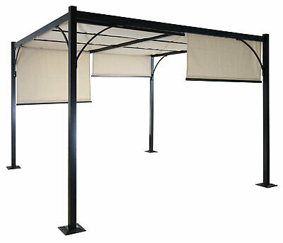 pergola cadiz garten pavillon 10cm luxus alu gestell 3x3m ohne seitenwand eur 243 99. Black Bedroom Furniture Sets. Home Design Ideas