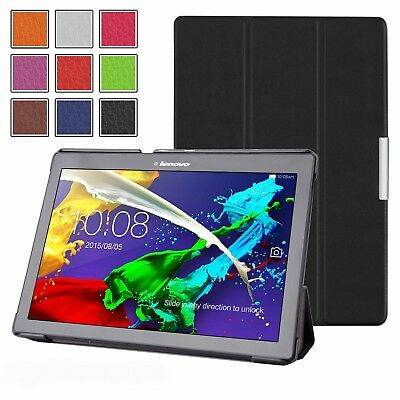 """Thin Leather Case Cover, Screen Protector & Stylus For Lenovo Tab 2 A10-30 (10"""")"""