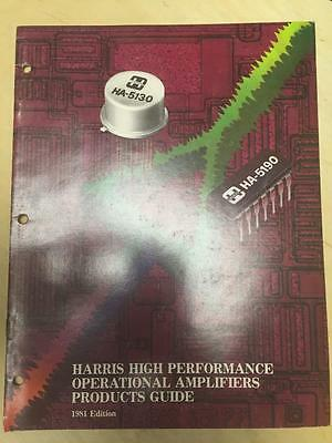 1981 Harris Semiconductors Catalog ~ Operational Amplifiers Product Guide