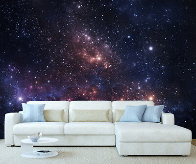 Giant Space Planets Wallpaper Wall Mural 3.42 x 2.42m Feature Office Home 1065