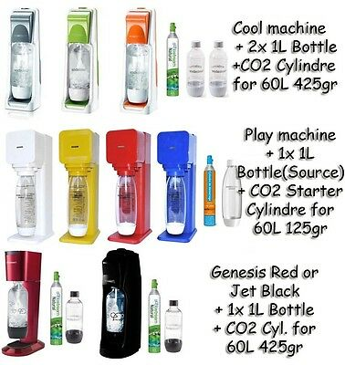 SodaStream Water Maker Cool Genesis Play Jet of choice all in stock TOP PARTS