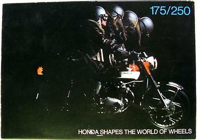 HONDA CD175 & CB250 Super Sport - Motorcycle Sales Brochure - Circa 1969