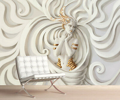 3D MEDUSA Wallpaper Wall Mural Picture Simply Peel and Stick Best Price! 1073