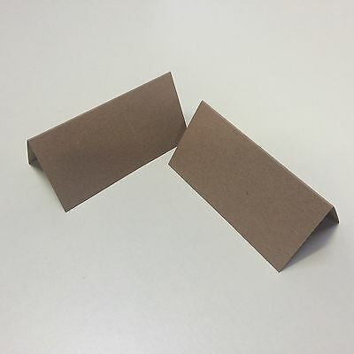 500 x Recycled Fleck Brown Place Name Cards - Events & Parties