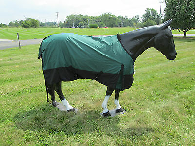 """Horse Turnout  Sheet / Waterproof / Rip-stop / Green and Black 78"""""""""""