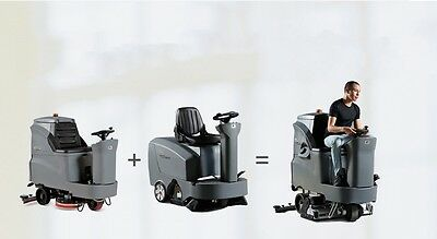 Dual Mix floor Scrubber + Sweeper integrated together - Ride on -NEW - USCANPACK