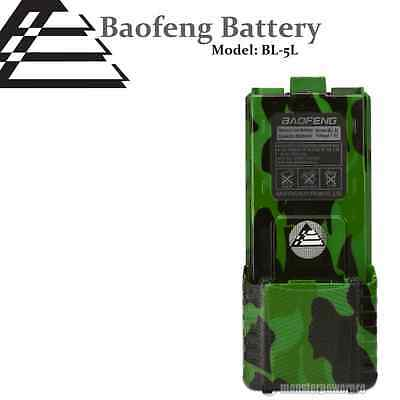 CAMO BAOFENG 3800mAh BL-5L 7.4V Extended Li-Ion Battery for UV-5R Radio