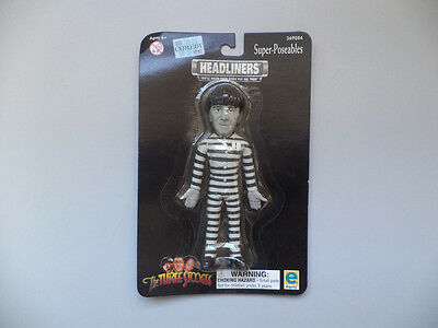 THE THREE STOOGES Headliners Super-Poseables Character Moe - New