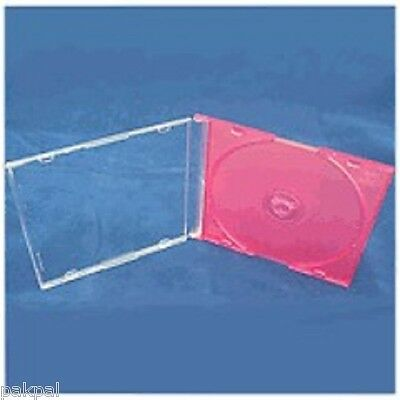 200 New High Quality 5.2mm Slim CD Jewel Cases w/Pink Tray PSC16PINK