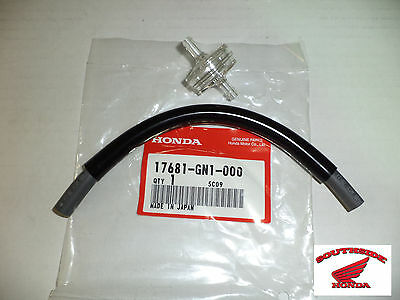 New Genuine Honda Molded Fuel Line Tube With Visuline In Line Filter