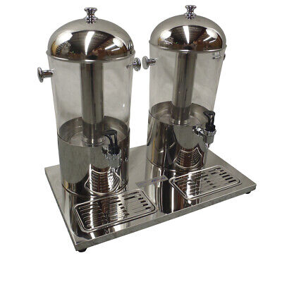 New Double Juice Drink Dispenser Beverage Cold Drink Cooler Machine