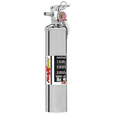 H3R Performance MaxOut 2.5 lb Dry Chemical Refillable Fire Extinguisher Chrome