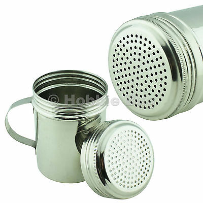 Stainless Steel Spice/Salt/Pepper Dredge Shaker with Handle - 10 oz Ounce