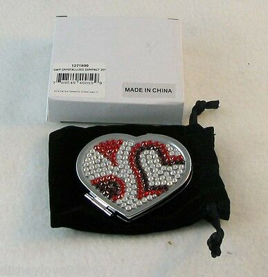 FASHIONS NIGHT OUT 2011 SWAROSVKI Signed Heart Event Mirror Compact Valentine