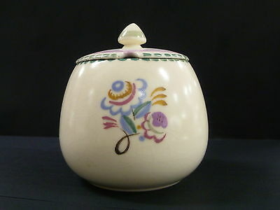 Vintage Hand Decorated Poole Pottery Lidded Canister / Made In England