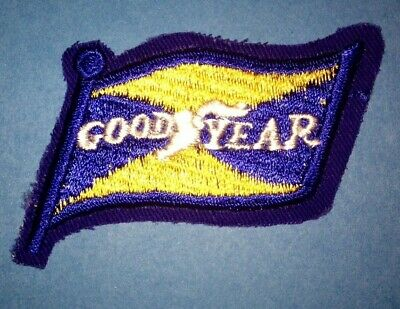 Vintage 1960's Goodyear Tires NASCAR Sponsor Sew On Racing Gear Jacket Hat Patch