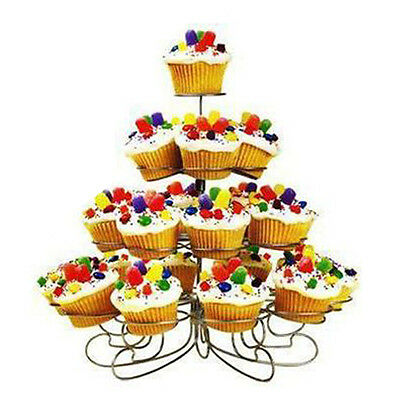 4 Tier 13 Cupcake Party Holder/Stand - Wedding Birthday Metal Display Muffin HT