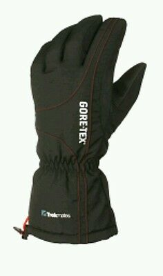 Trekmates Men's Gore-Tex Chamonix Gloves - Black/Red Medium