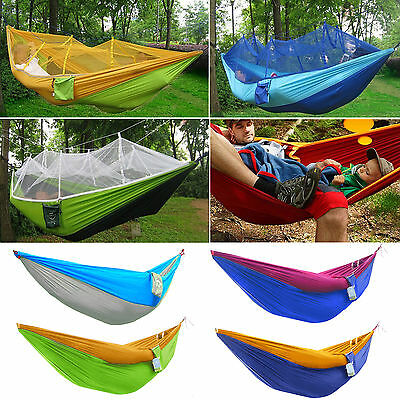 Portable Travel Camping Outdoor Garden Parachute Nylon Hammock Hanging Swing Bed