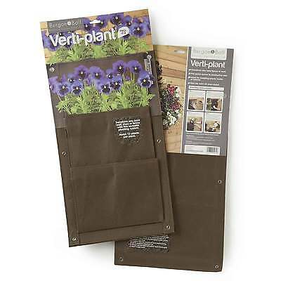 Chestnut Brown Verti-Planter Wall Planters by Burgon & Ball (Pack of 2)