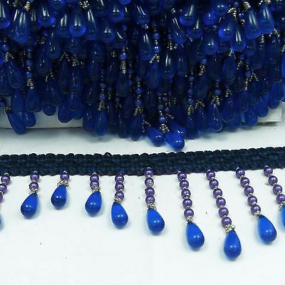 Beaded Decorative Crafting Upholstery Curtain Ribbon Fringe Supplies By 1 Yard