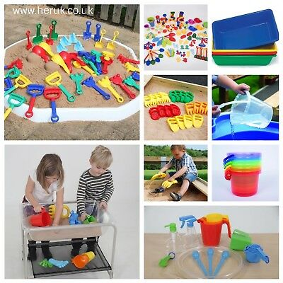 Sand and Water Activity plastic trays Colourful, messy creative, mixing toy play