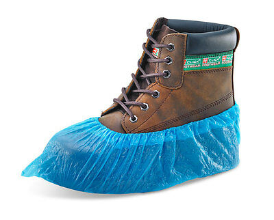 Disposable Blue Overshoes Over Shoe Cover