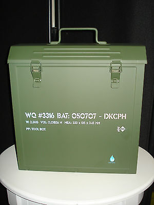 Danish Design by Waterquest - Army Tool Box Metall - Kleinkram / Zeitungen / LPs