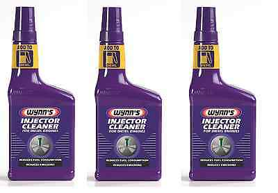 3 x WYNNS DIESEL INJECTOR CLEANER - REDUCES FUEL CONSUMPTION & EMISSIONS - 325ml