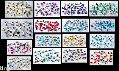 BRADS Multi-listing Various Colours/Shapes/Mixes inc Hearts/Stars/Flowers/Rounds