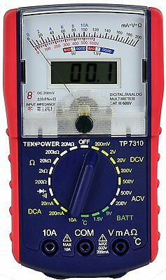 Tekpower TP7310 Analog & Digital AC/DC Volt Multimeter with Resistance and Temp