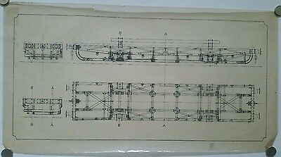 Vintage Modellers Technical Drawing LMS Deep Case Wagon 60 x 32cm, Transparency