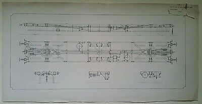 Original Vintage Modellers Technical Drawing MR 1st & 3rd Class Underframe 56x28